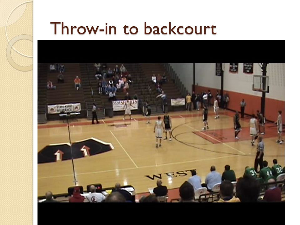 Throw-in to backcourt