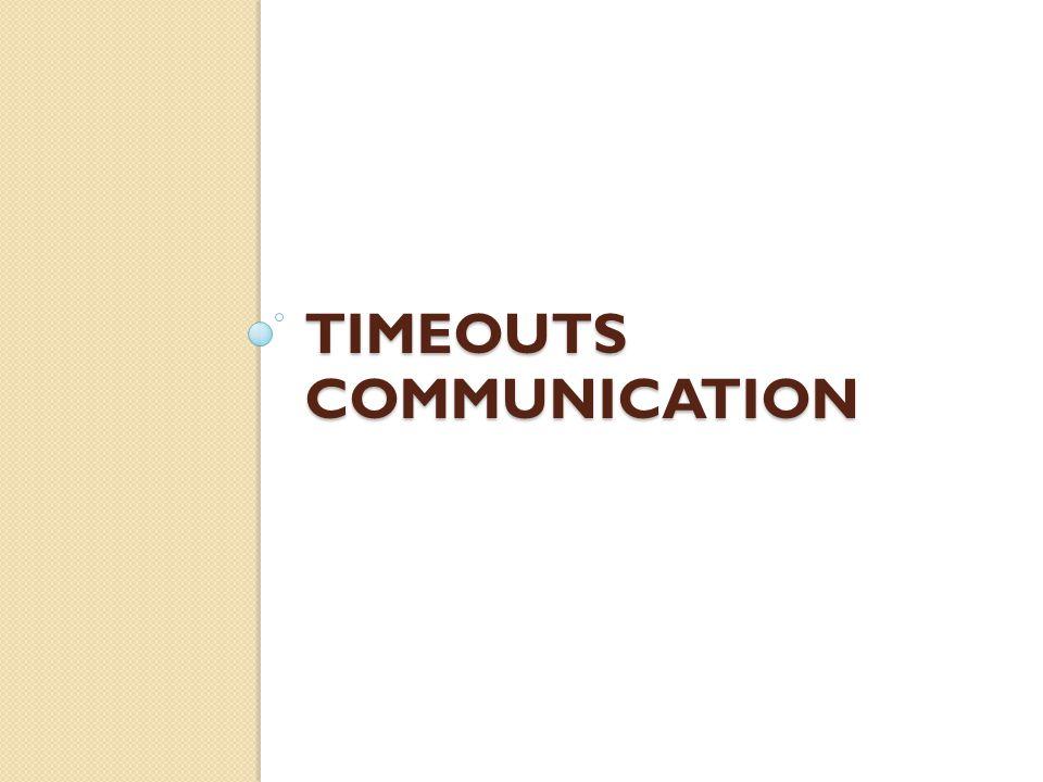 Timeouts Communication