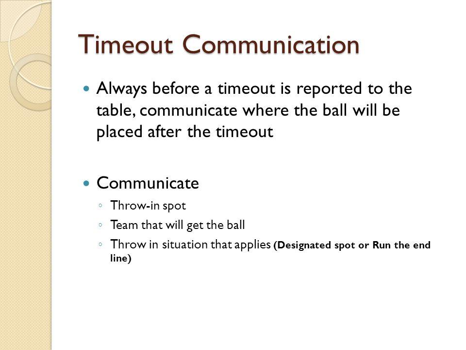 Timeout Communication