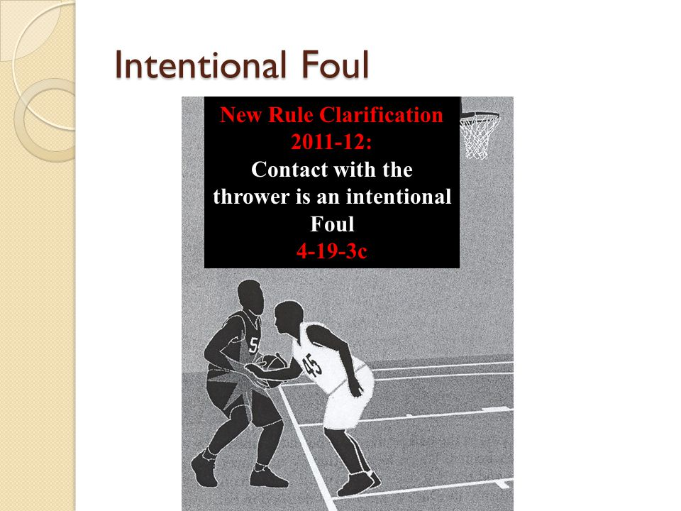 Intentional Foul New Rule Clarification 2011-12: