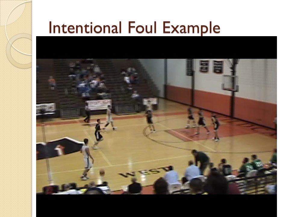 Intentional Foul Example