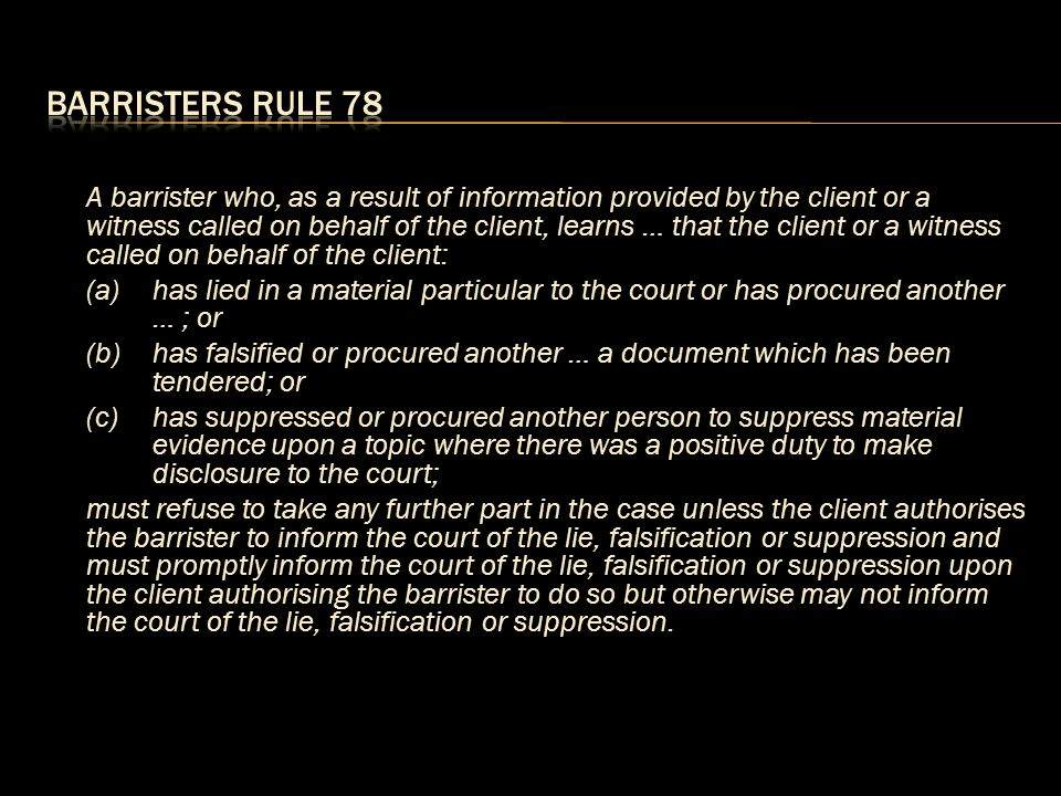 Barristers Rule 78