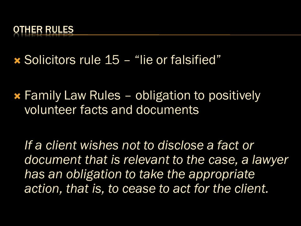 Solicitors rule 15 – lie or falsified