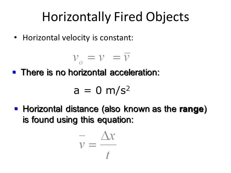 Horizontally Fired Objects