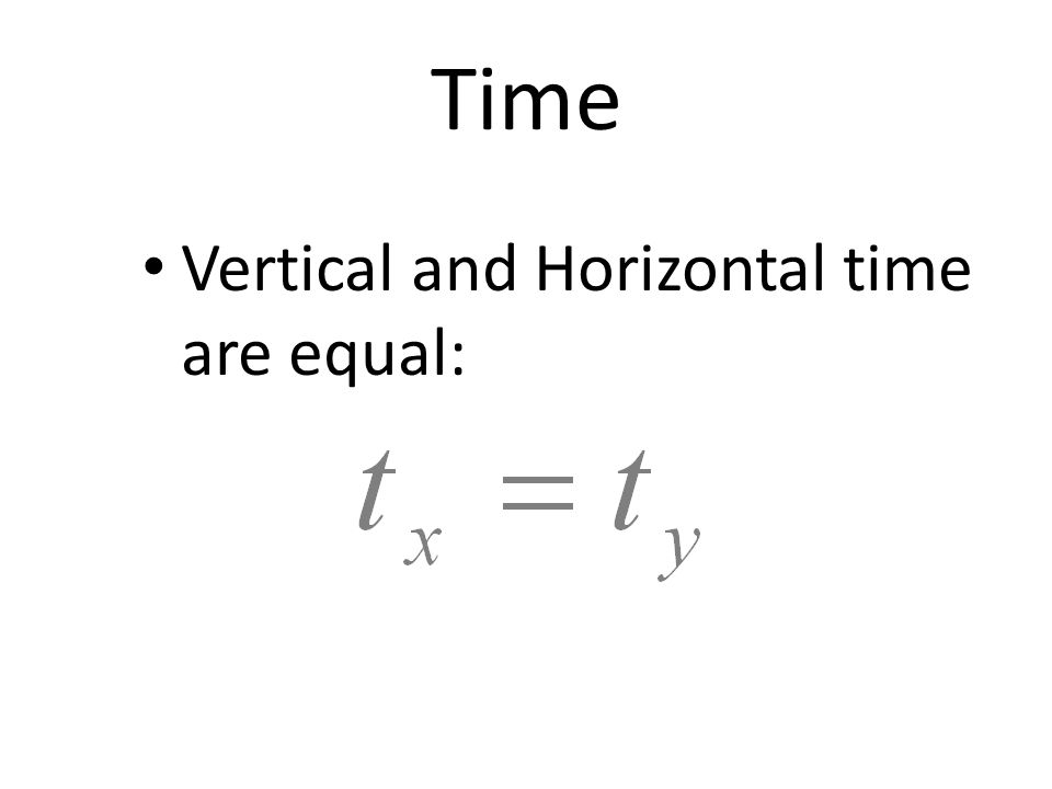 Time Vertical and Horizontal time are equal: