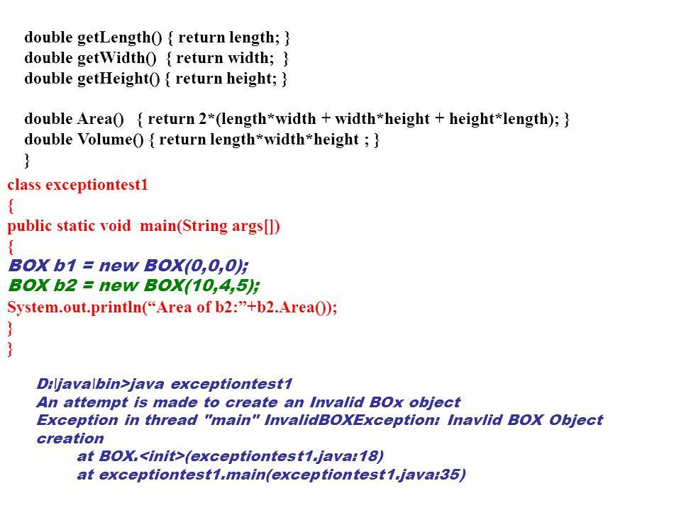 double getLength() { return length; }