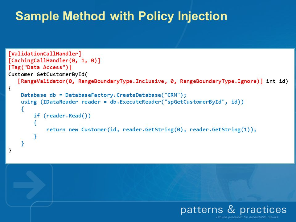 Sample Method with Policy Injection