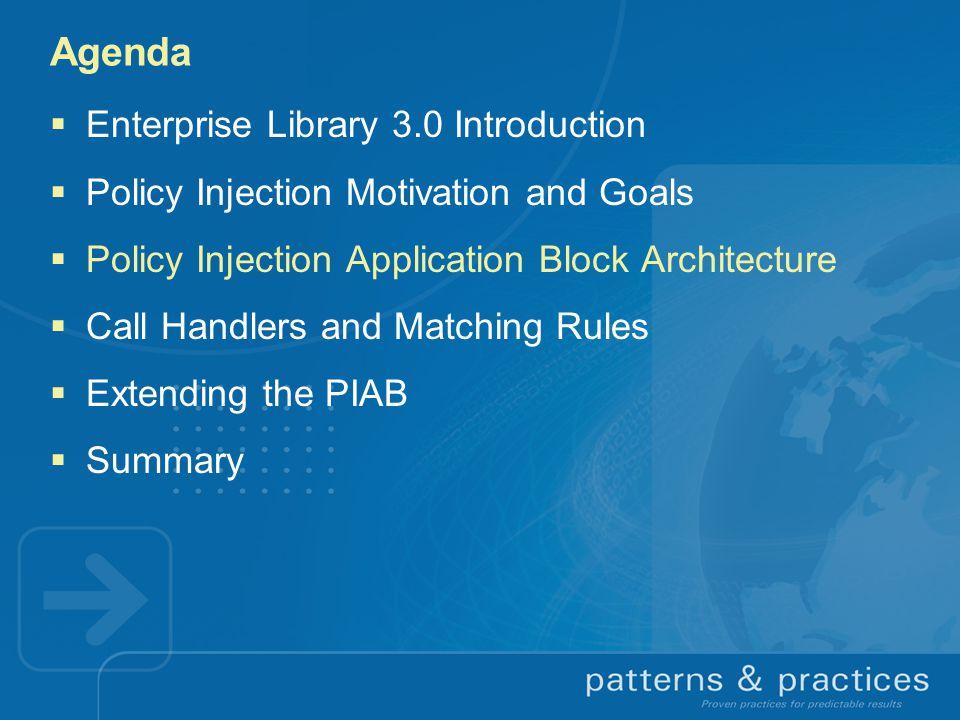 Agenda Enterprise Library 3.0 Introduction