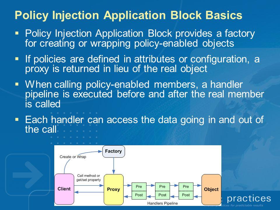 Policy Injection Application Block Basics