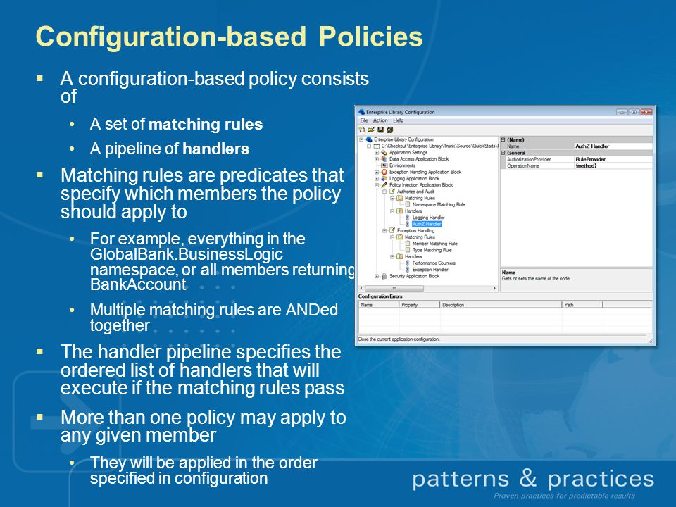 Configuration-based Policies