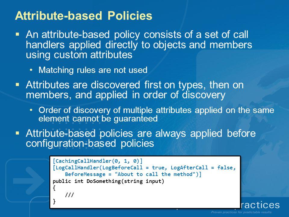 Attribute-based Policies
