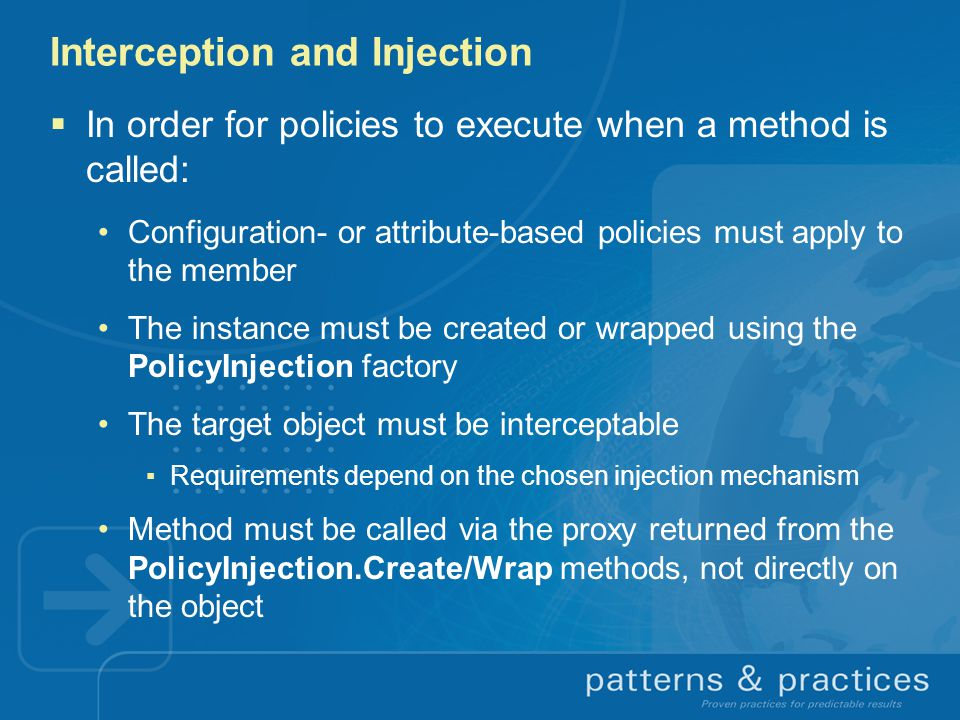 Interception and Injection