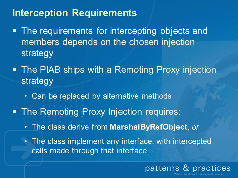 Interception Requirements
