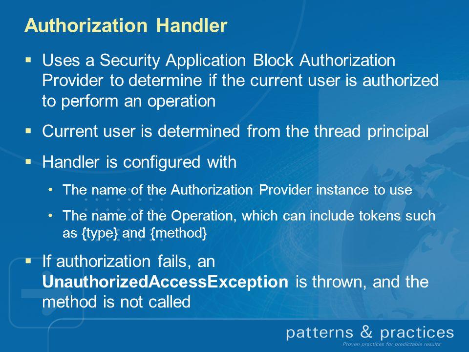 Authorization Handler
