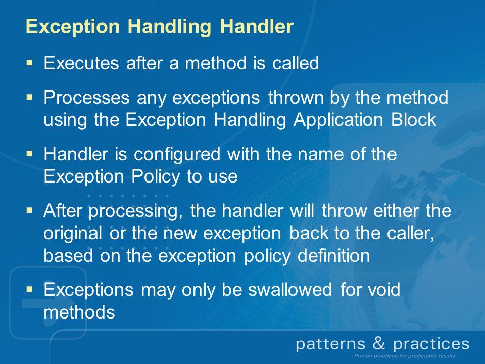 Exception Handling Handler