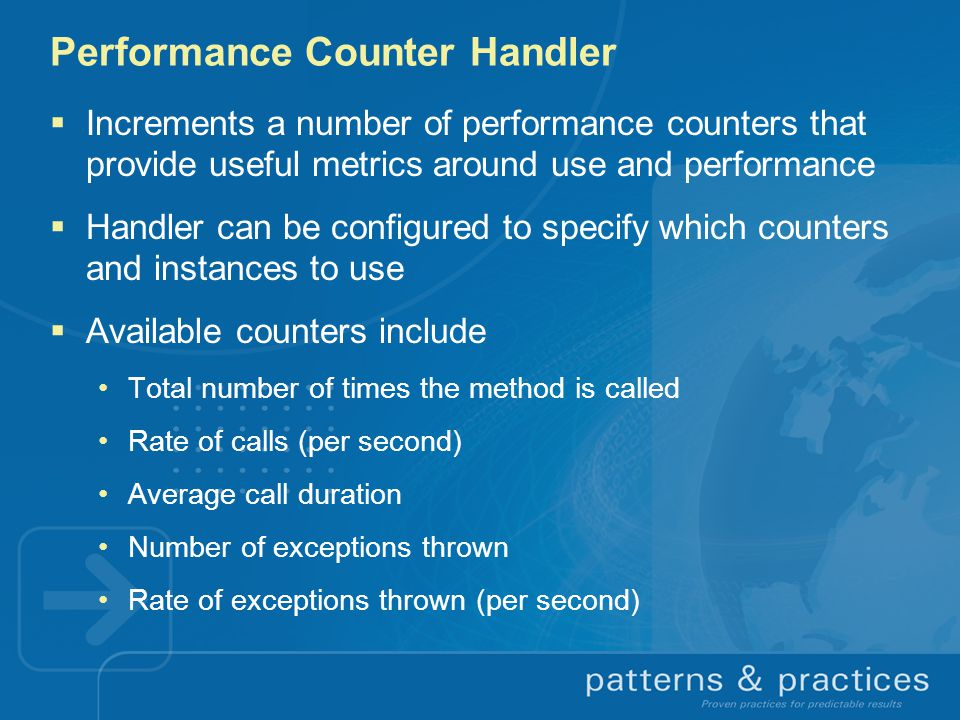 Performance Counter Handler
