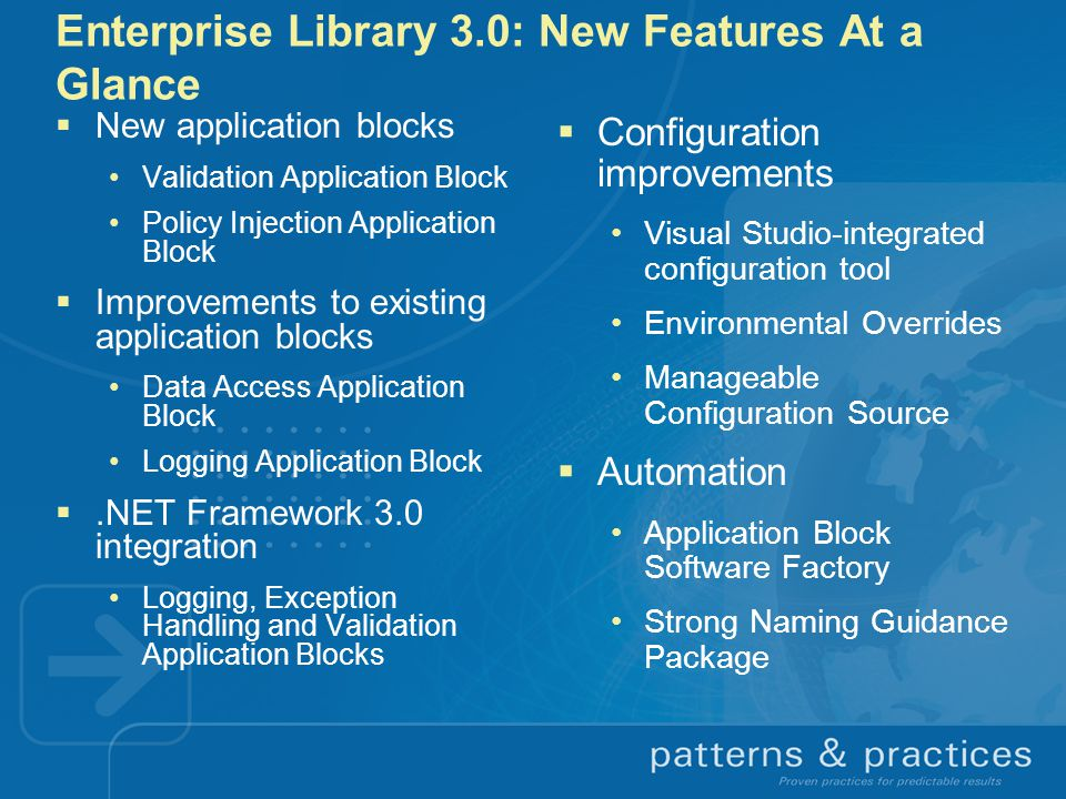 Enterprise Library 3.0: New Features At a Glance