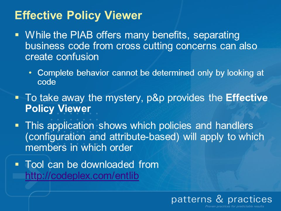 Effective Policy Viewer