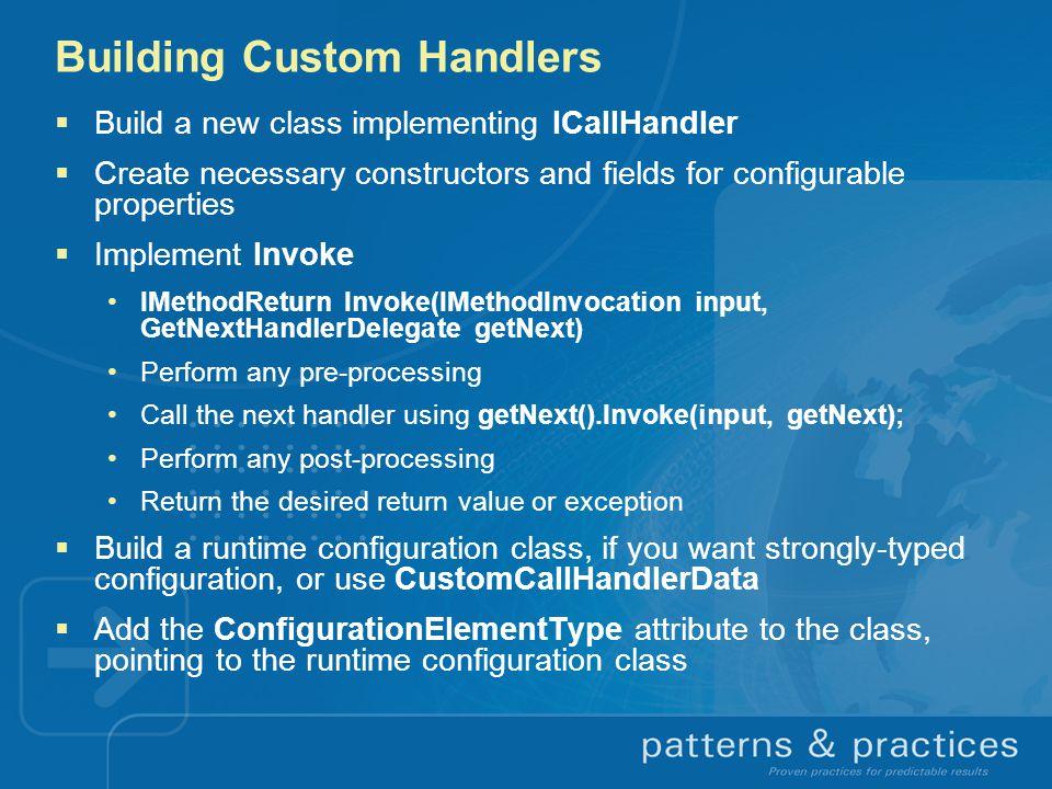 Building Custom Handlers