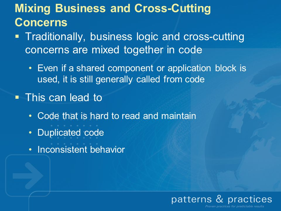 Mixing Business and Cross-Cutting Concerns