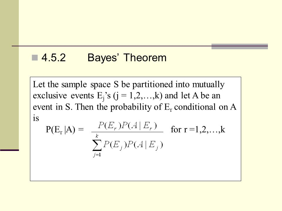 4.5.2 Bayes' Theorem