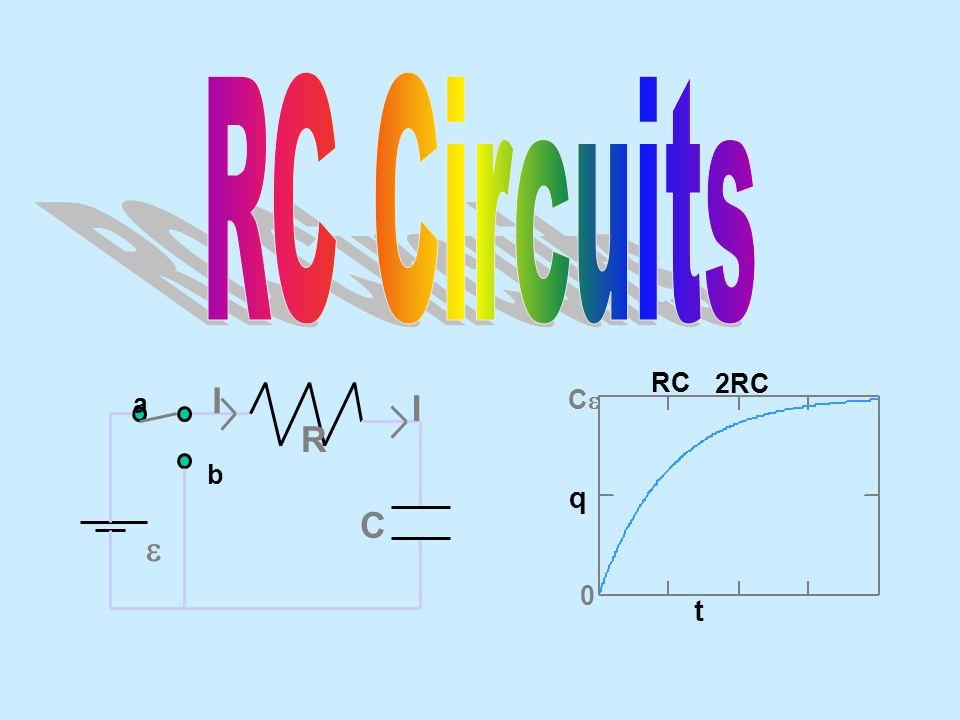 RC Circuits t q RC 2RC Ce a b e R C I