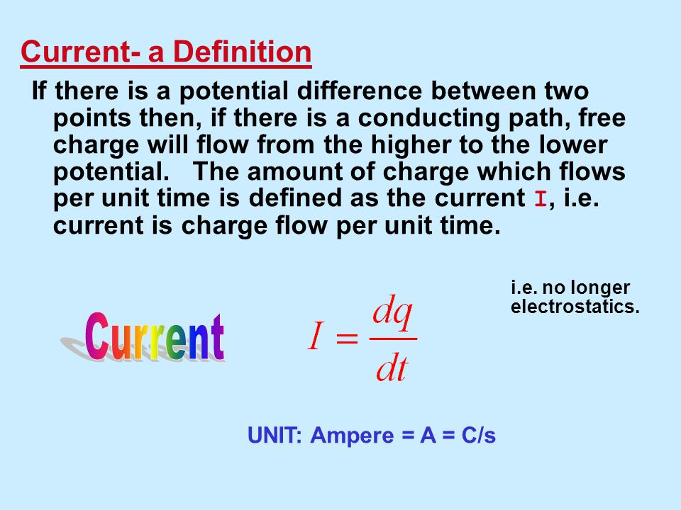 Current Current- a Definition