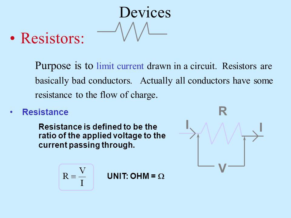 Devices Resistors: