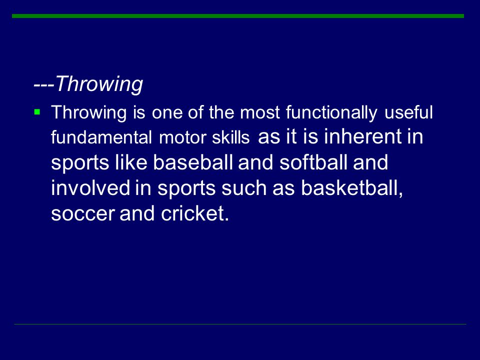 ---Throwing