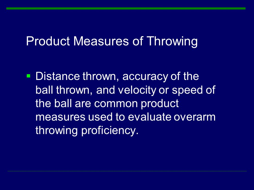 Product Measures of Throwing