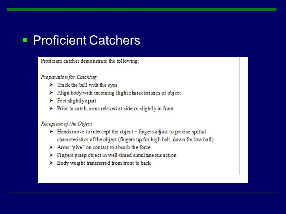 Proficient Catchers