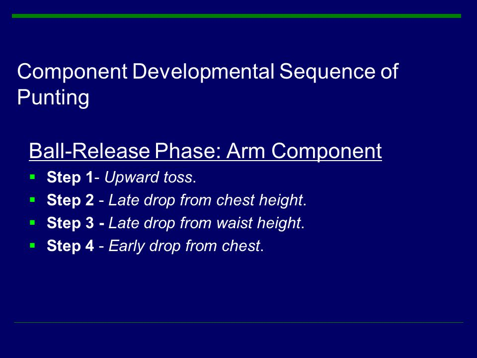 Component Developmental Sequence of Punting