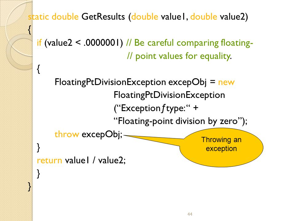 static double GetResults (double value1, double value2) {