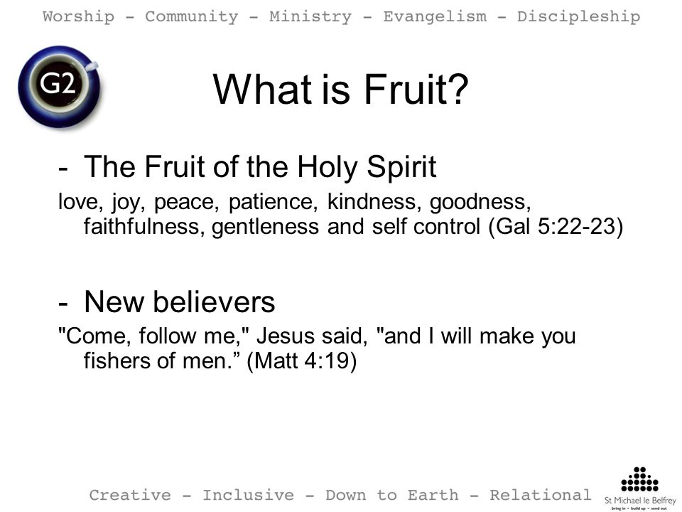 What is Fruit The Fruit of the Holy Spirit New believers