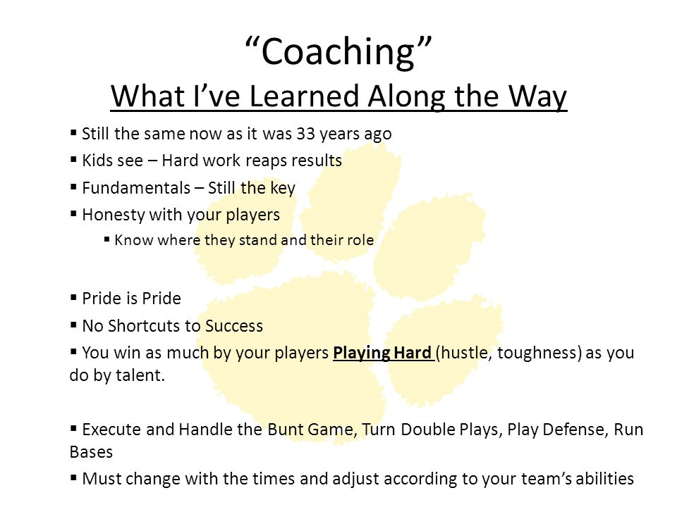 Coaching What I've Learned Along the Way