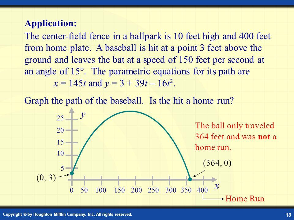 Application: Parametric Equations