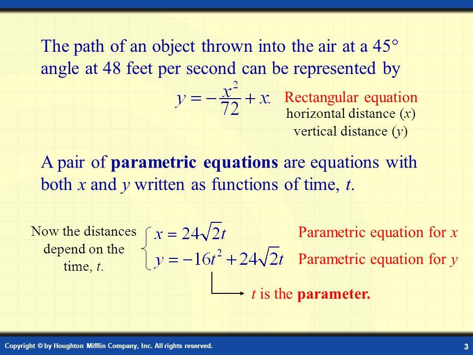 Definition: Parametric Equation