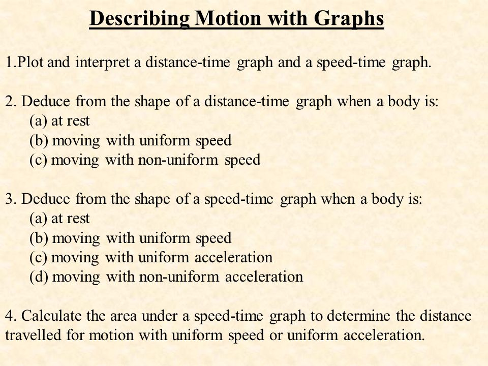 Describing Motion with Graphs