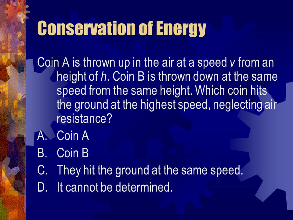 Conservation of Energy