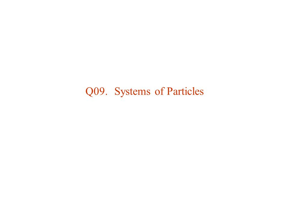 Q09. Systems of Particles