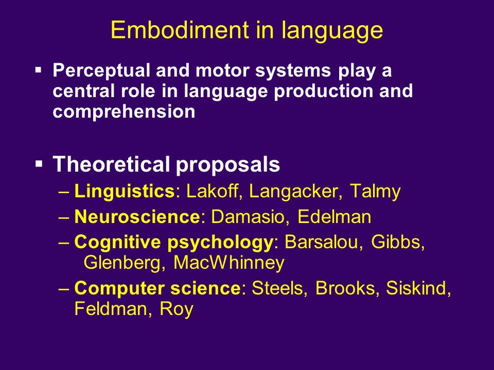 Embodiment in language