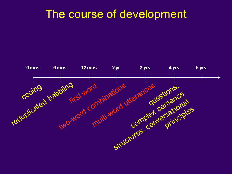 The course of development