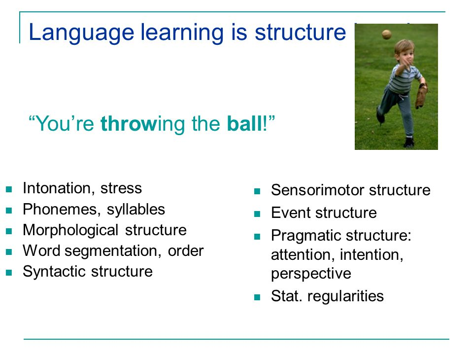 Language learning is structure learning