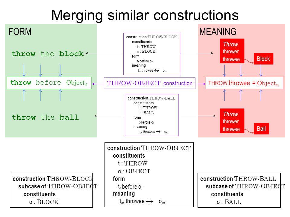 Merging similar constructions