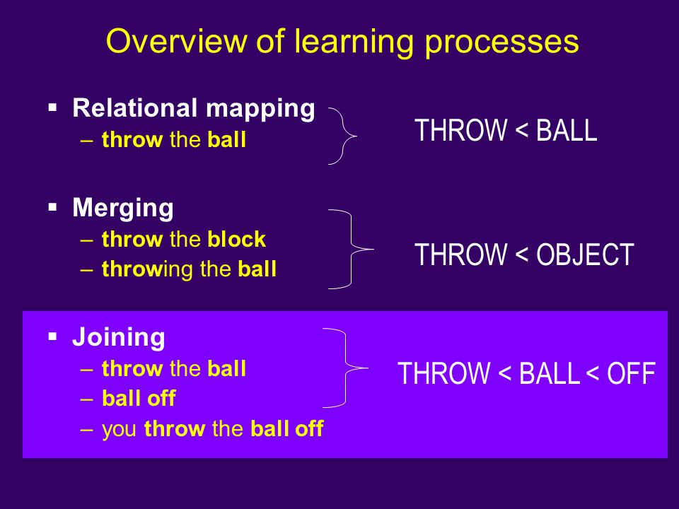 Overview of learning processes