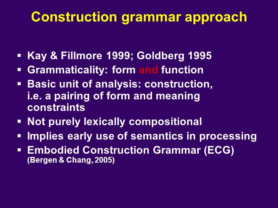 Construction grammar approach
