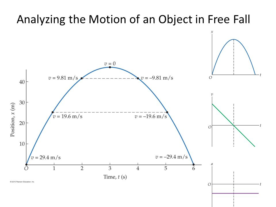 Analyzing the Motion of an Object in Free Fall