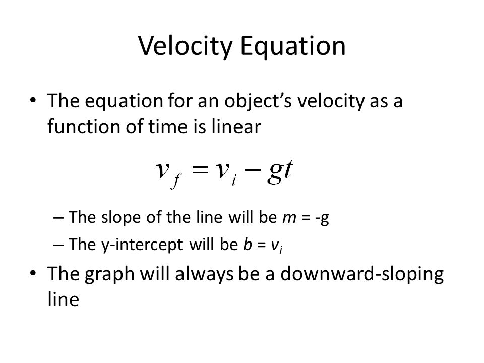 how to find the velocity of an object