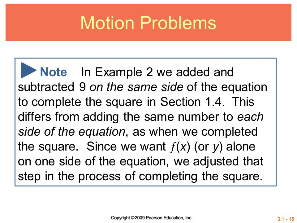 Motion Problems