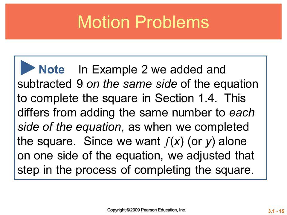 Motion Problems